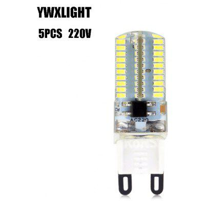 5pcs YWXLIGHT G9 SMD 3014 4W 360LM Dimming LED Corn Lamp Bulb