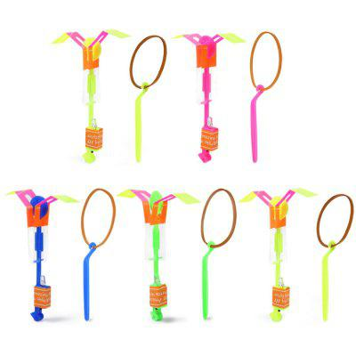 5PCs Set Arrow Flying Rocket Shape Outdoor Toy with Shining LED for Child Kid