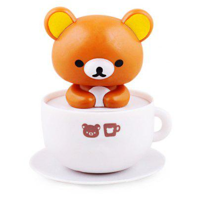 Solar Coffee Cup Head Shaking Bear