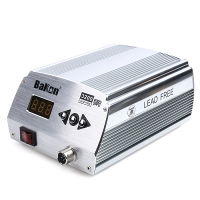 BK3200 120W Welding Iron Station Soldering AccessorySoldering Supplies<br>BK3200 120W Welding Iron Station Soldering Accessory<br><br>Adjustable Temperature Range: 50-500<br>Brand: Bakon<br>Color: Silver<br>Material: Metal<br>Model: BK3200<br>Package Contents: 1 x BK3200 Welding Iron Station, 1 x Handle, 1 x Holder, 1 x Sponge, 1 x Connected Cable, 1 x Power Cable, 1 x English Manual<br>Package size (L x W x H): 15.00 x 12.00 x 16.00 cm / 5.91 x 4.72 x 6.3 inches<br>Package weight: 1.680 kg<br>Power: 120W<br>Product size (L x W x H): 10.00 x 8.00 x 11.00 cm / 3.94 x 3.15 x 4.33 inches<br>Special function: Soldering<br>Temperature Control Support: Yes
