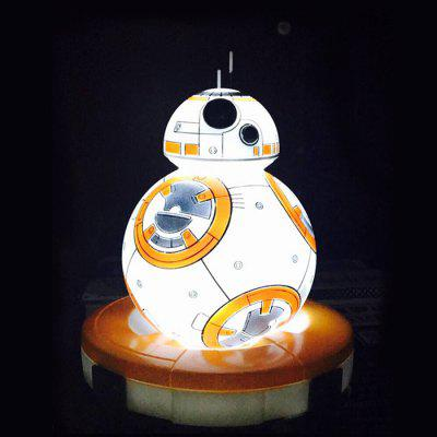 Night Light Vinyl BB - 8 RC Robot Anime Figure Model LED Seven Color Change Birthday Gift