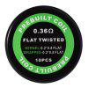 Prebuilt Kanthal A1 Flat Twisted Coil - SILVER