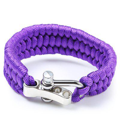 Outdoor Survival Emergency Parachute Cord Bracelet