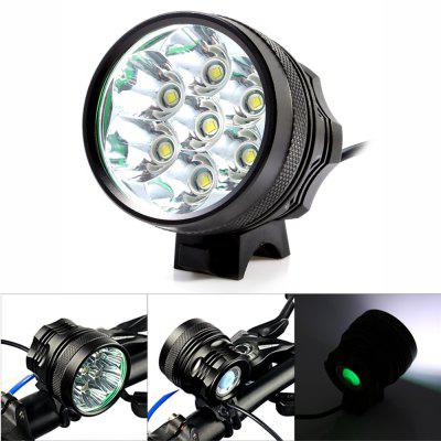 Marsing MS - 07 6000Lm Cree XML T6 7 LED Bicycle Light SetBike Lights<br>Marsing MS - 07 6000Lm Cree XML T6 7 LED Bicycle Light Set<br><br>Best Use: Backpacking,Camping,Climbing,Hiking<br>Brand: Marsing<br>Color: Black<br>Features: Superbright, Low Power Consumption, Easy to Install<br>LED Quantity: 7 LED<br>Luminance: 5000 - 6000 lumens<br>Material: Aluminum Alloy<br>Model Number: MS-07<br>Package Contents: 1 x Marsing MS-07 Bicycle Light, 6 x 18650 Lithium Battery, 1 x Battery Bag, 2 x Rubber Ring, 1 x Power Adapter<br>Package Dimension: 23.00 x 8.50 x 8.50 cm / 9.06 x 3.35 x 3.35 inches<br>Package weight: 0.6000 kg<br>Placement: Handlebar<br>Product Dimension: 7.50 x 5.50 x 5.50 cm / 2.95 x 2.17 x 2.17 inches<br>Product weight: 0.2080 kg<br>Suitable for: Electric Bicycle, Mountain Bicycle, Road Bike, Touring Bicycle, Fixed Gear Bicycle, Motorcycle<br>Type: Front Light<br>Working Time: 4 - 5 hours