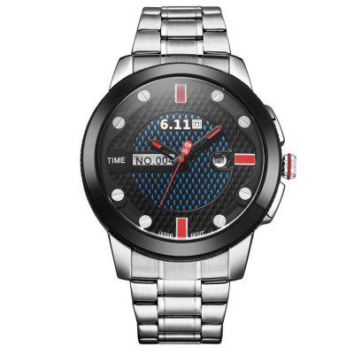 6.11 GD004 Men Photoelectric Conversion WatchMens Watches<br>6.11 GD004 Men Photoelectric Conversion Watch<br><br>Band material: Stainless Steel<br>Band size: 24.5 x 2.4 cm / 9.65 x 0.94 inches<br>Case material: Alloy<br>Clasp type: Folding clasp with safety<br>Dial size: 5.4 x 1.6 cm / 2.13 x 0.63 inches<br>Display type: Analog<br>Movement type: Light table<br>Package Contents: 1 x 6.11 GD004 Men Photoelectric Conversion Watch<br>Package size (L x W x H): 10.50 x 7.00 x 7.00 cm / 4.13 x 2.76 x 2.76 inches<br>Package weight: 0.332 kg<br>Product size (L x W x H): 24.50 x 5.40 x 1.60 cm / 9.65 x 2.13 x 0.63 inches<br>Product weight: 0.170 kg<br>Shape of the dial: Round<br>Special features: Date<br>Watch color: Black, Blue and Black, Red and Black, Black and White, Silver and Black, Silver and Red, Silver and Blue, Silver and White<br>Watch mirror: Mineral glass<br>Watch style: Casual, Fashion<br>Watches categories: Male table<br>Water resistance : 30 meters