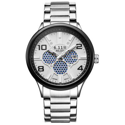 6.11 GD008 Men Photoelectric Conversion WatchMens Watches<br>6.11 GD008 Men Photoelectric Conversion Watch<br><br>Band material: Stainless Steel<br>Band size: 23.5 x 2.2 cm / 9.25 x 0.86 inches<br>Case material: Alloy<br>Clasp type: Folding clasp with safety<br>Dial size: 4.7 x 1.5 cm / 1.85 x 0.59 inches<br>Display type: Analog<br>Movement type: Light table<br>Package Contents: 1 x 6.11 GD008 Men Photoelectric Conversion Watch<br>Package size (L x W x H): 10.50 x 7.00 x 7.00 cm / 4.13 x 2.76 x 2.76 inches<br>Package weight: 0.307 kg<br>Product size (L x W x H): 23.50 x 4.70 x 1.50 cm / 9.25 x 1.85 x 0.59 inches<br>Product weight: 0.145 kg<br>Shape of the dial: Round<br>Special features: Date<br>Watch color: Black, Blue and Black, Red and Black, Black and White, Silver and Black, Silver and Red, Silver and Blue, Silver and White<br>Watch mirror: Mineral glass<br>Watch style: Casual, Fashion<br>Watches categories: Male table<br>Water resistance : 30 meters