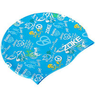 ZOKE Unisex Graffiti Pattern Waterproof Swimming Hat