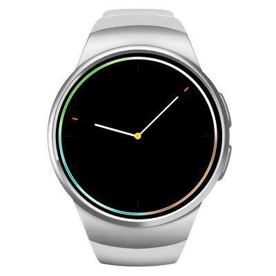 KingWear KW18 Smartwatch PhoneSmart Watch Phone<br>KingWear KW18 Smartwatch Phone<br><br>Additional Features: 2G, Alarm, Bluetooth, Calendar, People, MP3, Waterproof<br>Battery: 340mAh Built-in<br>Bluetooth Version: V4.0<br>Brand: KingWear<br>Camera type: No camera<br>Compatible OS: Android, IOS<br>CPU: MTK2502<br>English Manual: 1<br>External Memory: TF card up to 16GB (not included)<br>Frequency: GSM850/900/1800/1900MHz<br>Functions: Message, Sleep monitoring, Pedometer, Sedentary reminder, Anti-lost alert, Heart rate measurement, Remote Camera<br>Languages: English, French, Spanish, Russian, German, Italian,  Portuguese<br>Music format: MP3<br>Network type: GSM<br>Package size: 12.00 x 12.00 x 9.00 cm / 4.72 x 4.72 x 3.54 inches<br>Package weight: 0.2700 kg<br>Picture format: PNG, JPEG<br>Product size: 30.00 x 4.50 x 1.39 cm / 11.81 x 1.77 x 0.55 inches<br>Product weight: 0.0680 kg<br>RAM: 64MB<br>ROM: 128MB<br>Screen resolution: 240 x 240<br>Screen size: 1.3 inch<br>Screen type: Capacitive, IPS<br>SIM Card Slot: Single SIM<br>Smartwatch Phone: 1<br>Type: Watch Phone<br>USB Cable: 1<br>Video format: MP4<br>Wireless Connectivity: Bluetooth, GSM