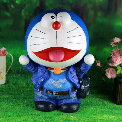 Cute Cartoon Cat Cowboy Figure Money Box Toy