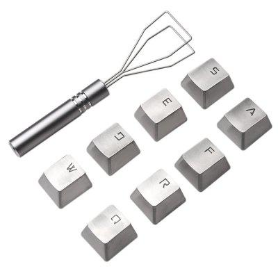 K6 Metal Key Cap Set - 8PCS