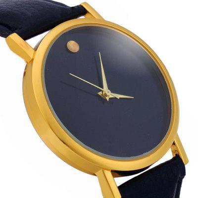 Male Simple Quartz Watch with Golden DotWomens Watches<br>Male Simple Quartz Watch with Golden Dot<br><br>Available Color: Black,Brown,Green,White<br>Band material: Leather<br>Case material: Stainless Steel<br>Display type: Analog<br>Movement type: Quartz watch<br>Package Contents: 1 x Watch<br>Package size (L x W x H): 24.80 x 4.80 x 1.70 cm / 9.76 x 1.89 x 0.67 inches<br>Package weight: 0.078 kg<br>Product size (L x W x H): 23.80 x 3.80 x 0.70 cm / 9.37 x 1.5 x 0.28 inches<br>Product weight: 0.028 kg<br>Shape of the dial: Round<br>The band width: 1.8 cm / 0.71inches<br>The dial diameter: 3.8 cm / 1.49 incdes<br>The dial thickness: 0.7 cm / 0.28 inches<br>Watch style: Fashion<br>Watches categories: Male table<br>Wearable length: 18 - 21.4 cm / 7.09 - 8.43 inches