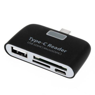 T - 639 USB 3.1 Type-C to USB 2.0 Card Reader