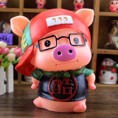 Cute Saving Pot Money Box Glasses Pig Model Toy for Kid Child
