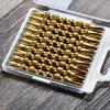 10PCS PH2 S2 Calabash Style Double Head Screwdriver Bit - DOURADO