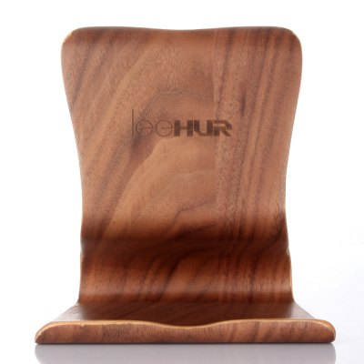 LeeHUR Portable Tablet Holder Stand Wooden Bracket