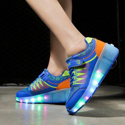 Unisex USB Rechargeable Shining LED Roller Sneaker