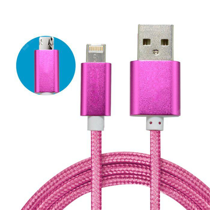 1m 8 Pin Micro USB Charging and Data Sync Cable
