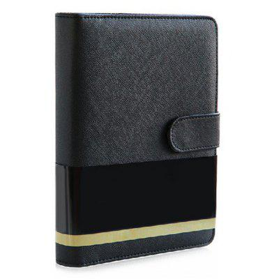 Deli A5 8.5 inch PU Stationery Leather Classical Notebook