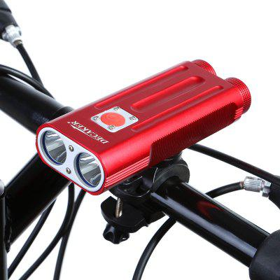 DECAKER Multi-function 1200Lm XML T6 LED Bicycle LightBike Lights<br>DECAKER Multi-function 1200Lm XML T6 LED Bicycle Light<br><br>Best Use: Backpacking,Camping,Climbing,Hiking<br>Brand: Decaker<br>Color: Black,Red<br>Features: Superbright, Low Power Consumption, Easy to Install<br>LED Quantity: 2 LED<br>Luminance: 1200 lumens<br>Material: Aluminum Alloy<br>Package Contents: 1 x EDCAKER Bicycle Light, 1 x Fixed Mount<br>Package Dimension: 22.80 x 13.00 x 6.50 cm / 8.98 x 5.12 x 2.56 inches<br>Placement: Handlebar<br>Product Dimension: 12.30 x 5.00 x 4.00 cm / 4.84 x 1.97 x 1.57 inches<br>Product weight: 0.200 kg<br>Suitable for: Fixed Gear Bicycle, Mountain Bicycle, Road Bike, Touring Bicycle, Cross-Country Cycling, Electric Bicycle, Motorcycle<br>Type: Front Light