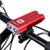DECAKER Multi-function 1200Lm XML T6 LED Bicycle Light - RED