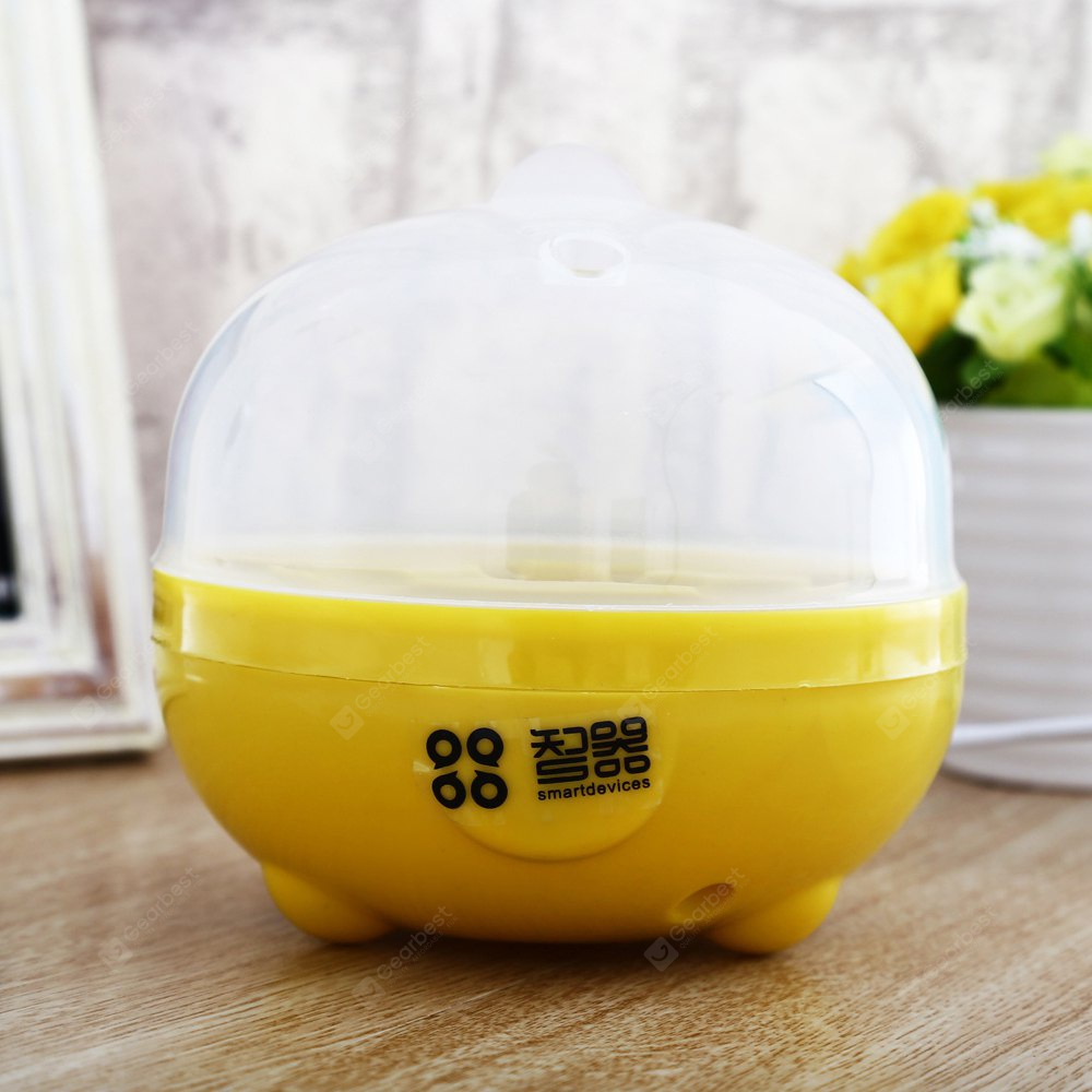 WHITE AND YELLOW Practical Mini Electric Egg Boiler