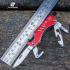 HX OUTDOORS CZ001 9 in 1 Multifunctional Tool Knife - RED