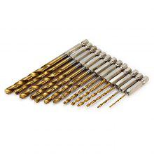 13PCS Titanium Coated Hex Shank Drill Bit