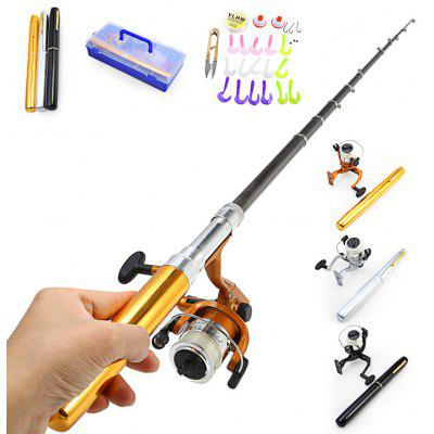 Portable 1.8m Aluminum Alloy Fishing Rod Big Pen Set