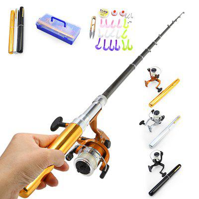 Portable 2.1m Aluminum Alloy Fishing Rod Big Pen Set