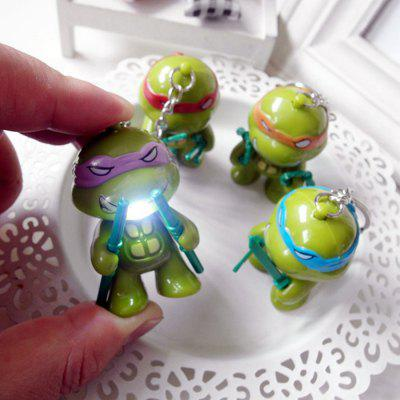 5.7cm 1PC LED Lighting Sound Turtle Key Chain
