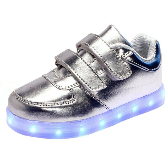 Buy USB Flashing LED Children Shoes SILVER