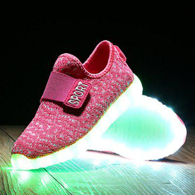 Unisex USB Charging Seven-color Flashing LED Children Shoes