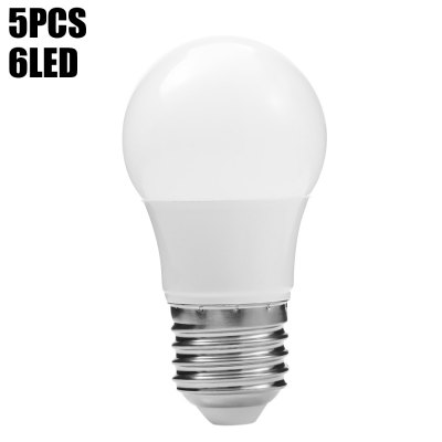 5PCS 3W 250Lm 6 x SMD2835 E27 LED Ball Bulb