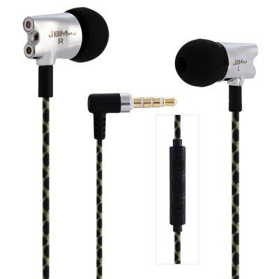 JBMMJ S800 HiFi Stereo Music In-ear Earphones Drive-by-wire