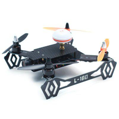 L160 L160 - 1 Racing Quadcopter BNFBrushless FPV Racer<br>L160 L160 - 1 Racing Quadcopter BNF<br><br>Age: Above 14 years old<br>Battery: 2S or 3S 500mAh to 1000mAh ( not included )<br>Built-in Gyro: Yes<br>Channel: No Transmitter<br>Control Distance: 300-800m<br>Detailed Control Distance: About 500m<br>Features: Radio Control<br>Functions: Up/down, Turn left/right, Forward/backward, 3D rollover<br>Kit Types: BNF<br>Level: Beginner Level<br>Material: Carbon Fiber<br>Model: L160 L160 - 1<br>Package Contents: 1 x BNF Version Racing Drone ( Includes 1 x Frame, 1 x Flight Controller, 4 x Propeller, 4 x ESC, 4 x Motor ), 1 x English Manual<br>Package size (L x W x H): 32.00 x 31.00 x 9.00 cm / 12.6 x 12.2 x 3.54 inches<br>Package weight: 0.350 kg<br>Product size (L x W x H): 13.30 x 15.80 x 5.00 cm / 5.24 x 6.22 x 1.97 inches<br>Remote Control: Radio Control<br>Type: Racing Quadcopter, Frame Kit