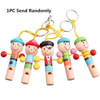 1PC Cute Cartoon Whistle Wooden Kid Music Development Toy
