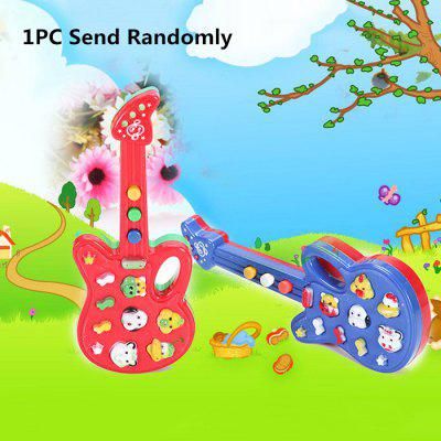 1PC Cute Animal Button Electronic Guitar Children Educational Toy