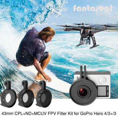 Fantaseal UV CPL ND8 FPV Lens Set for GoPro Hero 3 / 3+ / 4