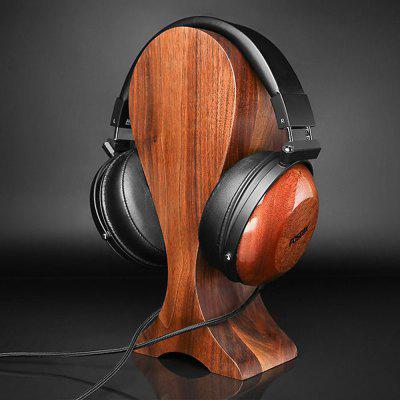 Wooden Headphones Holder Black Walnut Display Stand
