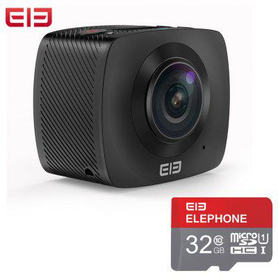 Coupon of Elephone Elecam 360 WiFi Action Camera Dual Lens - With 32G TF Card/Without TF Card