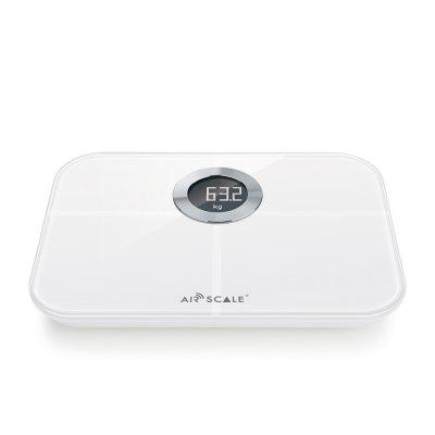 AirScale YHF1546 Body ScaleBody Scale<br>AirScale YHF1546 Body Scale<br><br>Material: ABS and ITO toughened glass<br>Model: YHF1546<br>Package Contents: 1 x Fat Scale, 1 x Bilingual Manual in English and Chinese<br>Package size (L x W x H): 34.80 x 18.70 x 6.00 cm / 13.7 x 7.36 x 2.36 inches<br>Package weight: 1.163 kg<br>Product size (L x W x H): 22.50 x 16.20 x 2.20 cm / 8.86 x 6.38 x 0.87 inches<br>Product weight: 0.800 kg