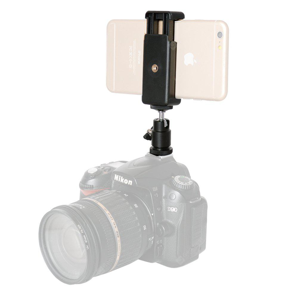 Fantaseal Ball Head Hot Shoe Adapter Camera Monitor Mount with Cell Phone Clamp for Action Camera