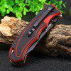 HARNDS CK7006 Folding Knife - RED WITH BLACK