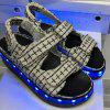 USB Charging Flashing LED Shoes - BLACK