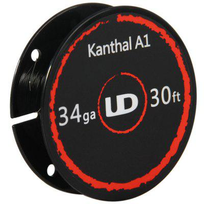 Original Youde UD 34ga Kanthal A1 WireAccessories<br>Original Youde UD 34ga Kanthal A1 Wire<br><br>Accessories type: Wicks/Wires<br>Available Color: Silver<br>Brand: Youde<br>Material: Kanthal<br>Package Contents: 1 x Youde UD 34ga Kanthal A1 Wire<br>Package size (L x W x H): 7.40 x 9.40 x 2.50 cm / 2.91 x 3.7 x 0.98 inches<br>Package weight: 0.060 kg<br>Product size (L x W x H): 4.80 x 4.80 x 1.50 cm / 1.89 x 1.89 x 0.59 inches<br>Product weight: 0.005 kg<br>Type: Electronic Cigarettes Accessories