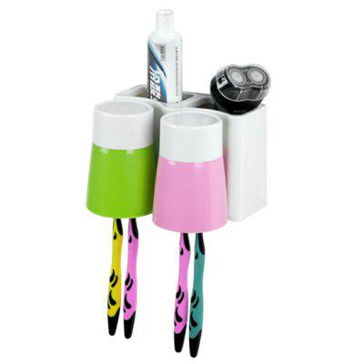 Plastic Toothbrush Holder with 2PCS Gargle Mug