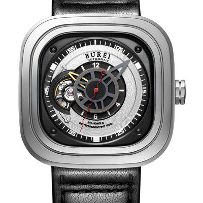 BUREI Sports Business Automatic Mechanical Men WatchMens Watches<br>BUREI Sports Business Automatic Mechanical Men Watch<br><br>Band material: Genuine Leather<br>Band size: 23 x 2 cm / 9.06 x 0.79 inches<br>Case material: Stainless Steel<br>Clasp type: Pin buckle<br>Dial size: 4.2 x 4.2 x 1.2 cm / 1.65 x 1.65 x 0.47 inches<br>Display type: Analog<br>Movement type: Automatic mechanical watch<br>Package Contents: 1 x BUREI Sports Business Automatic Mechanical Men Watch<br>Package size (L x W x H): 28.00 x 8.00 x 3.50 cm / 11.02 x 3.15 x 1.38 inches<br>Package weight: 0.156 kg<br>Product size (L x W x H): 23.00 x 4.20 x 1.20 cm / 9.06 x 1.65 x 0.47 inches<br>Product weight: 0.096 kg<br>Shape of the dial: Square<br>Watch color: Black, Black + Silver, White + Silver<br>Watch mirror: Sapphire<br>Watch style: Business, Trends in outdoor sports<br>Watches categories: Male table<br>Water resistance: 50 meters