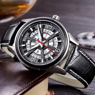 BUREI Business Automatic Mechanical Men Watch