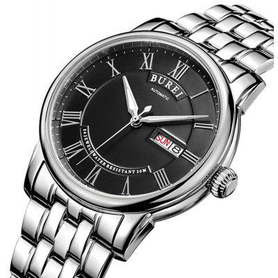 BUREI Retro Fashion Automatic Mechanical Men Watch