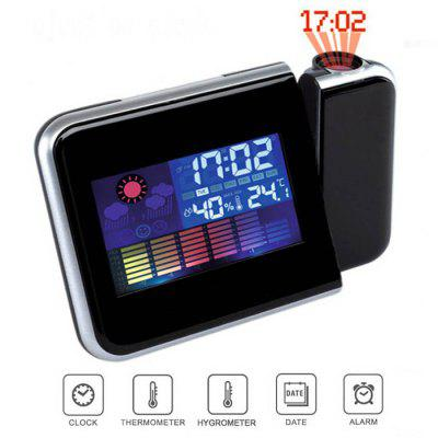 Digital Display / Snooze Alarm / Weather Forecast /  LED Backlight / Temperature / HumidityOther Home Improvement<br>Digital Display / Snooze Alarm / Weather Forecast /  LED Backlight / Temperature / Humidity<br><br>Material: Plastic<br>Package Contents: 1 x Clock, 1 x English-Chinese User Manual<br>Package size (L x W x H): 16.50 x 7.00 x 12.70 cm / 6.5 x 2.76 x 5 inches<br>Package weight: 0.2610 kg<br>Product size (L x W x H): 15.00 x 10.50 x 5.70 cm / 5.91 x 4.13 x 2.24 inches<br>Product weight: 0.1810 kg<br>Style: Modern, Fashion<br>Time Display: Digital<br>Type: Alarm Clock